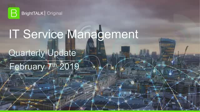 Q1 2019 Community Update: IT Service Management