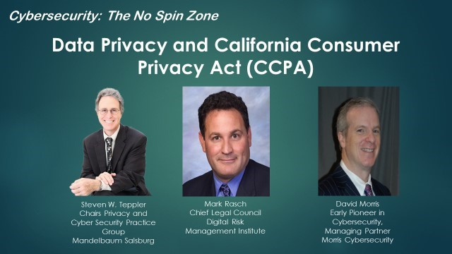 Data Privacy and California Consumer Privacy Act (CCPA)
