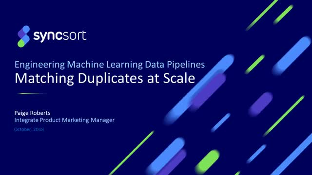 Finding and Matching Duplicates at Scale – 15-minute webcast