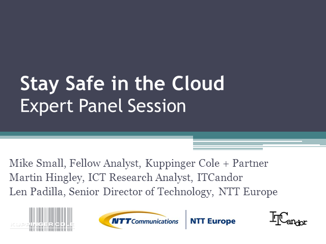 Stay Safe in the Cloud - Expert Panel Session