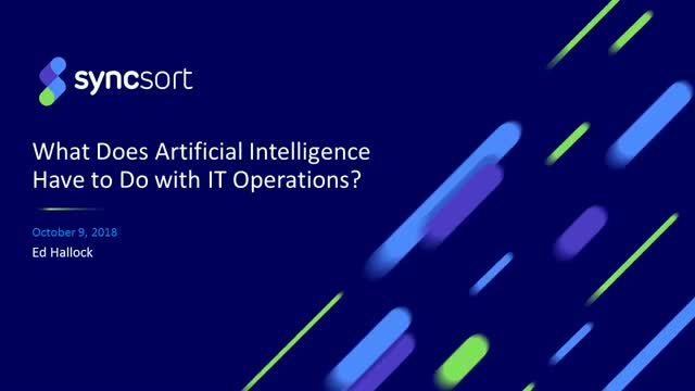 What Does Artificial Intelligence Have to Do with IT Operations?