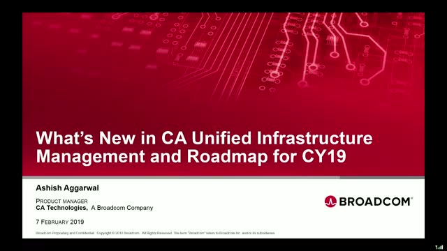 Q2 Product Roadmap Session - CA Unified Infrastructure Management - EMEA