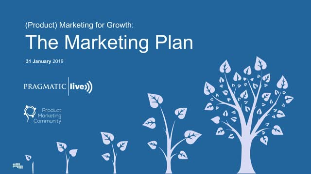 (Product) Marketing for Growth: The Marketing Plan