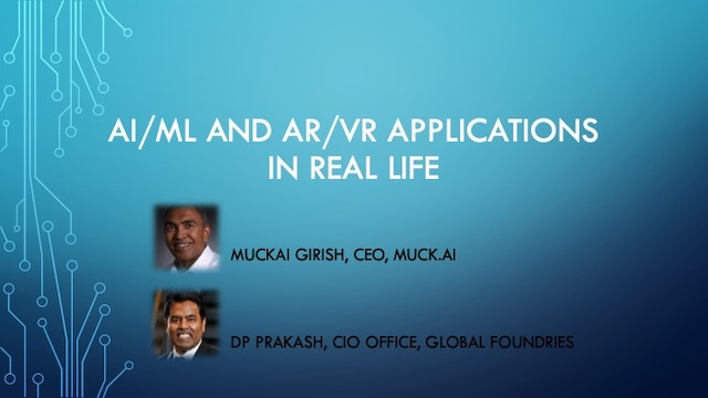 AI/ML and AR/VR Applications in Real Life