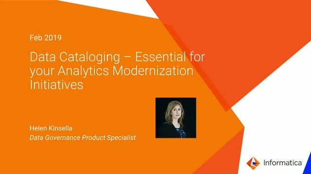 Data Cataloging - Essential for your Analytics Modernization Initiatives