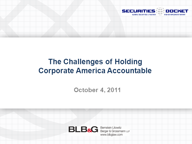 The Challenges of Holding Corporate America Accountable