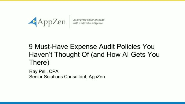 9 Must-Have Expense Audit Policies You Haven't Thought Of