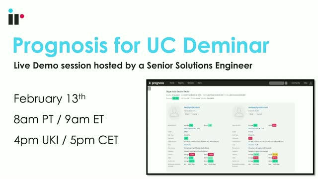 Prognosis for UC Live Demo [February 2019]