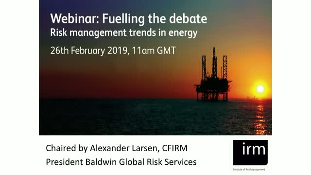 Fuelling the Debate: Panel Session by IRM Global Energy Experts