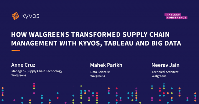 How Walgreens transformed Supply Chain Management with Kyvos, Tableau, and Big D