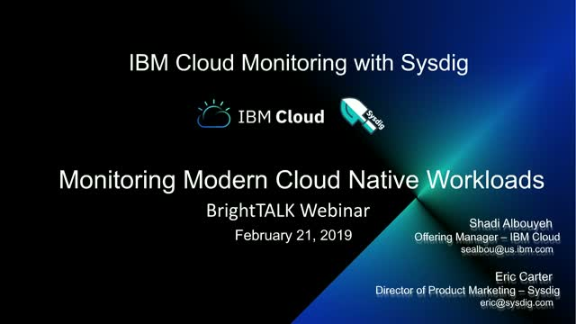 Monitoring Modern Cloud-Native Workloads