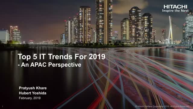Top 5 IT Trends 2019 - An APAC Perspective