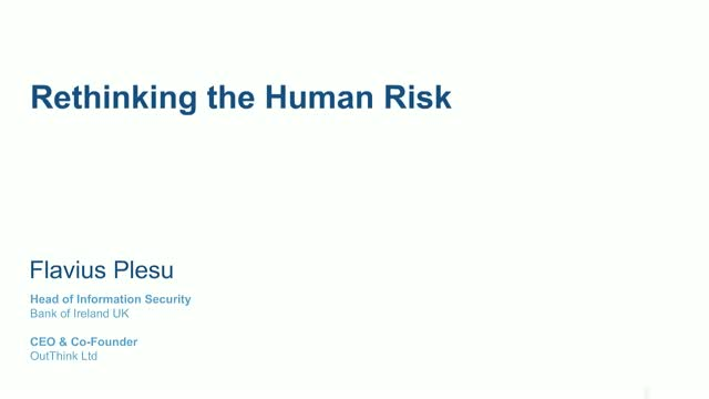 Rethinking the Human Risk