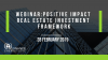 Positive Impact Real Estate Investment Framework (Morning Session)