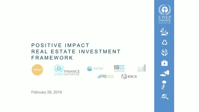 Positive Impact Real Estate Investment Framework (Afternoon Session)
