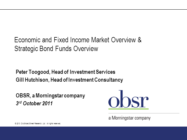 Fixed Income Sector Review
