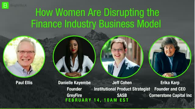 How Women Are Disrupting the Finance Industry Business Model