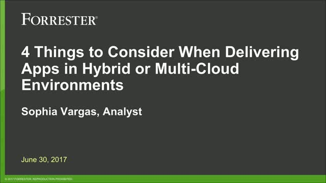 4 Things to Consider with Multi-Cloud and Hybrid Cloud Application Delivery