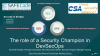 The Role of Security Champion in DevOps