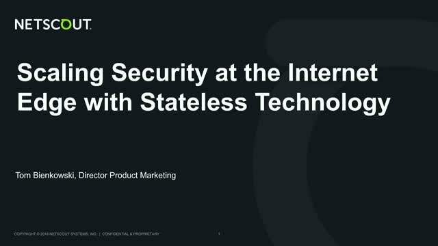 Scaling security at the Internet edge with stateless technology