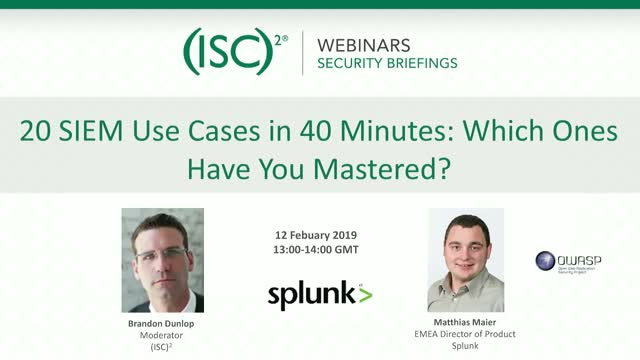 20 SIEM Use Cases in 40 Minutes: Which Ones Have You Mastered?