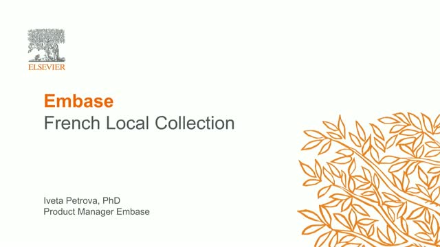 Introducing Embase French Local Literature Module