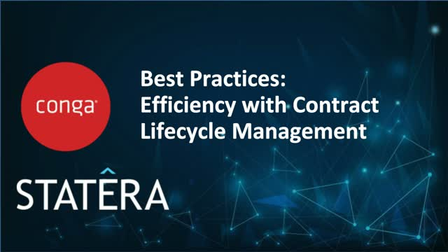 Best Practices : Efficiency with Contract Lifecycle Management