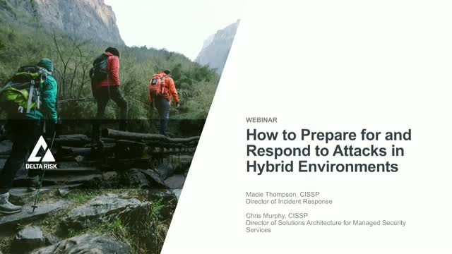 How to Prepare for & Recover from Attacks in Hybrid Enterprise Environments