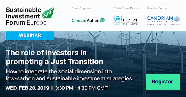 The Role of Investors in Promoting a Just Transition
