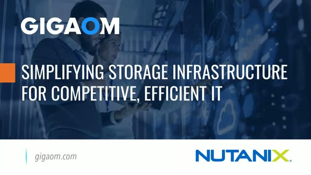 Simplifying Storage Infrastructure for Competitive Efficient IT
