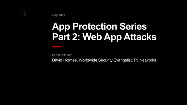 App Protection Series Part 2: Web App Attacks