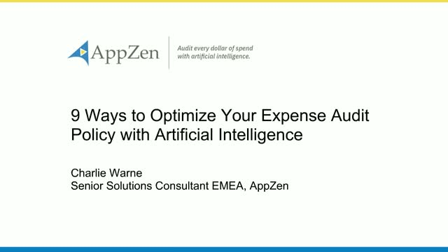 9 Ways to Optimize Your Expense Audit Policy with Artificial Intelligence