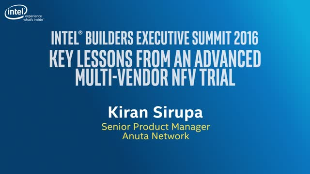 Webinar: Key Lessons from an advanced Multi-Vendor NFV Trial