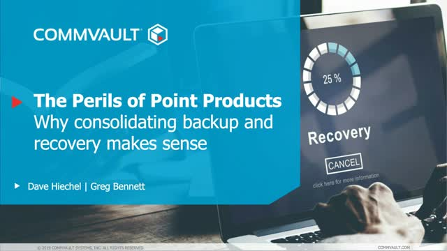 The Perils of Point Products – Why Consolidating Backup and Recovery Makes Sense
