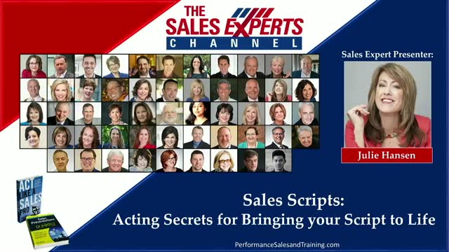 Sales Scripts: Acting Secrets for Bringing your Script to Life