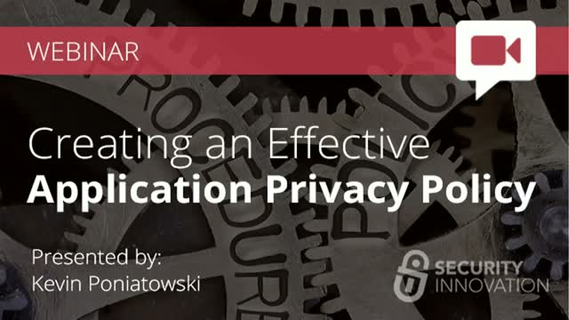 Creating an Effective Application Privacy Policy