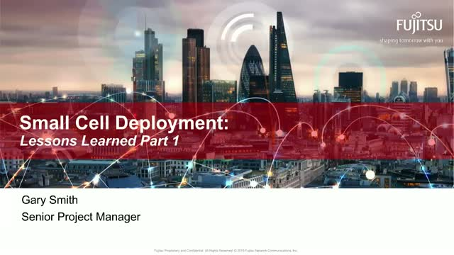 Small Cell Deployment : Lessons Learned Part 1