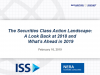 The Securities Class Action Landscape:A Look Back at 2018 & What's Ahead in 2019