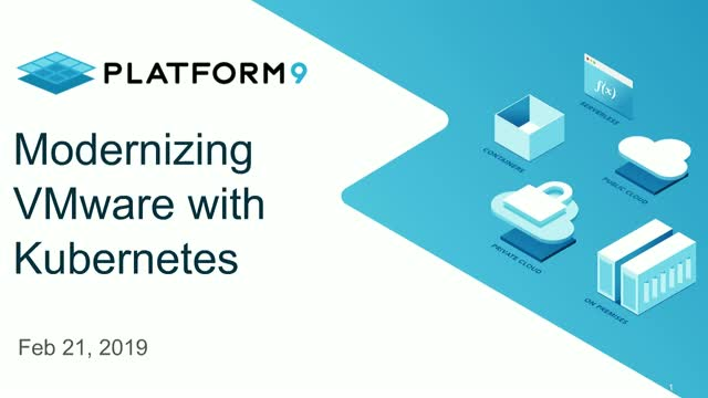 Modernizing VMware with Kubernetes