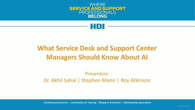 What Service and Support Managers Should Know About AI