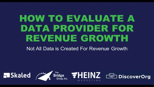How To Evaluate A Data Provider For Revenue Growth