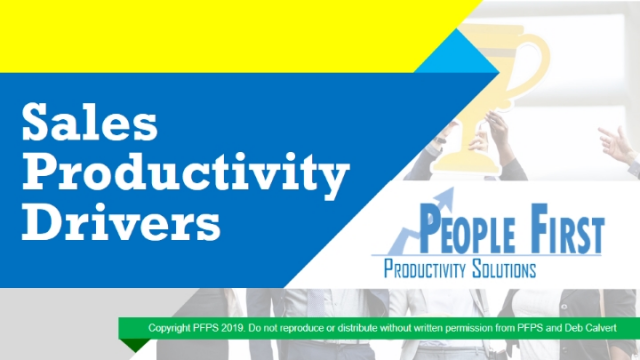Sales Managers: 7 Sales Productivity Drivers You Might Be Missing