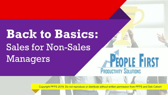 Sales for Non-Sales Managers