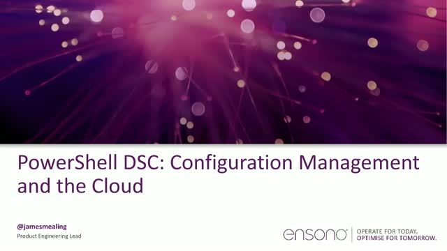 PowerShell DSC: Configuration Management and the Cloud