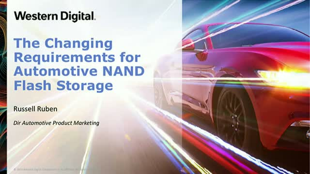 The Changing Requirements for Automotive NAND Flash Storage
