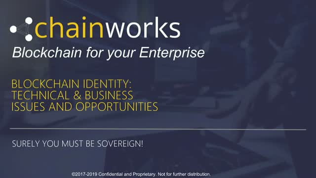 Sovereign identities on Blockchain : Technical & Business issues & Opportunities