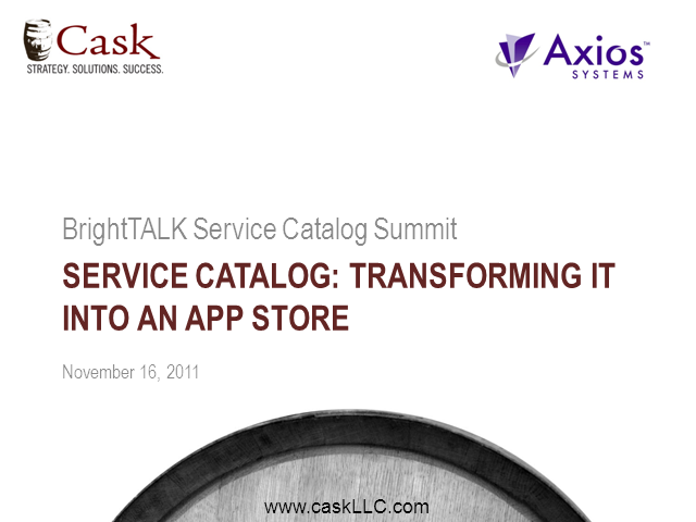 Service Catalog: Transforming IT into an App Store