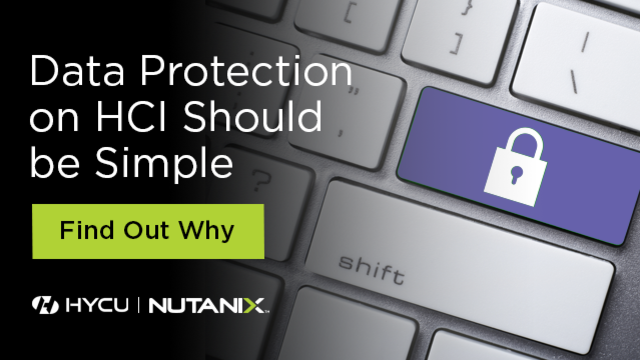 Data Protection on HCI Should be Simple