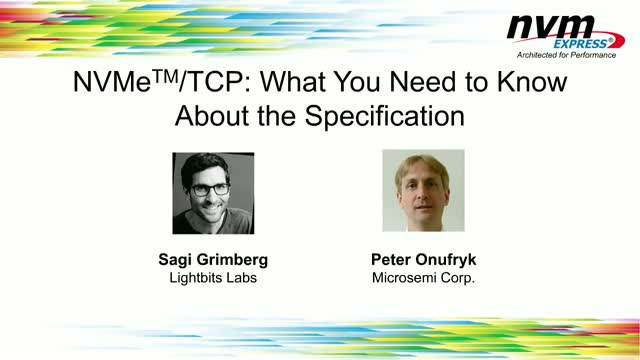 NVMe™/TCP: What You Need to Know About the Specification