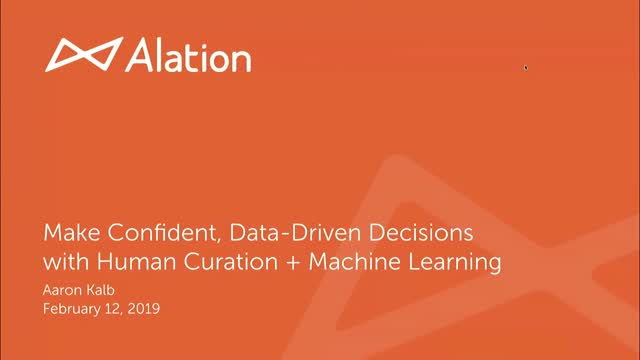 Make Confident Data Driven Decisions with Human Curation + Machine Learning